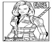 black widow avengers draw it dessin à colorier
