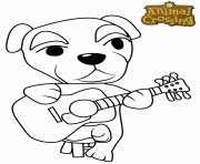 Coloriage animal crossing new horizons dessin