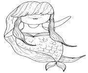 Coloriage Sirene 032 dessin
