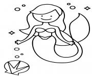 Coloriage Sirene 026 dessin