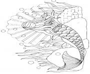 Coloriage Sirene 027 dessin
