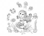 Coloriage Sirene 025 dessin
