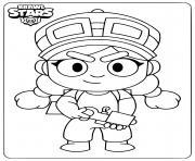 brawl stars jessie dessin à colorier