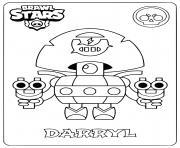 brawl stars darryl dessin à colorier