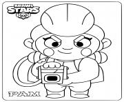 brawl stars pam dessin à colorier