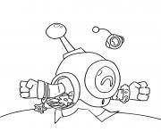 robot nani court rapidement dessin à colorier