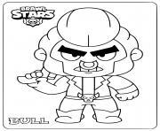 brawl stars bull dessin à colorier