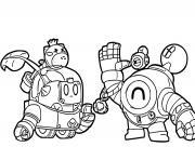 Sprout et Nani Brawl Stars dessin à colorier