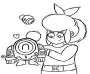 Pam et Robot Nani dessin à colorier