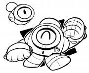 robot nani heureux dessin à colorier