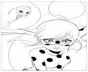 cute miraculous ladybug tikki et marinette dessin à colorier