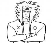 Jiraiya dessin à colorier