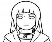 Coloriage the face of hinata naruto anime