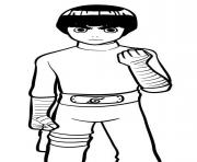 Rock Lee dessin à colorier