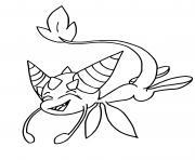 Dragon Kwami dessin à colorier