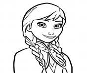 princesse anna d Arendelle dessin à colorier