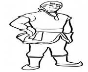 kristoff le fort homme dessin à colorier
