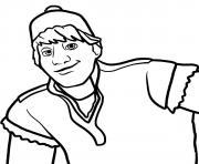 visage de kristoff dessin à colorier