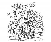 Coloriage licorne petit poney dessin