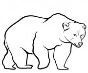 Coloriage Brown bear
