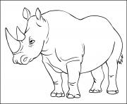 rhinoceros mammiferes appartenant a la famille des rhinocerotides dessin à colorier