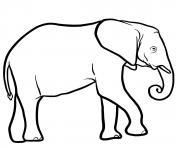 elephant afrique australe dessin à colorier