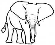 elephant de la savane africaine dessin à colorier