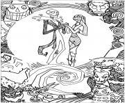 monsieur jack mandala dessin à colorier