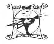 Coloriage nightmare before christmas