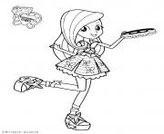 Coloriage My Little Pony Equestria Girls Fluttershy Princess