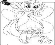 Coloriage My Little Pony Equestria Girls Fluttershy