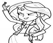 Sunset Shimmer My Little Pony Girl dessin à colorier