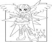 MLP Equestria Girls Twilight Sparkle dessin à colorier