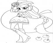 Coloriage My Little Pony Equestria Girls Applejack Printables