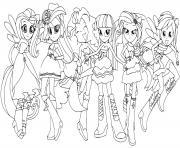 Equestria Girls fashion dolls dessin à colorier