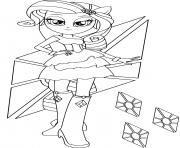 Coloriage Rarity in Equestria Girls