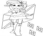 Rarity in Equestria Girls dessin à colorier