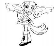 rarity twilight sparkle girl dessin à colorier