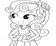 Coloriage sweetie belle equestria girls