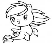 Sea Pony Rainbow Dash Cutie dessin à colorier