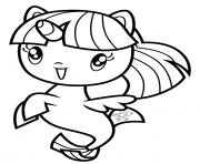 Sea Pony Twilight Sparkle dessin à colorier