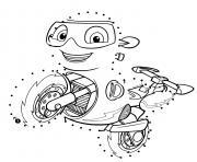 Ricky Dot to Dot dessin à colorier