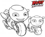Ricky Zoom et bebe Ricky dessin à colorier