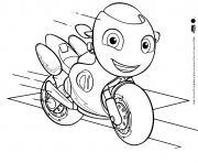 Ricky un petit scooter qui aime la vitesse dessin à colorier