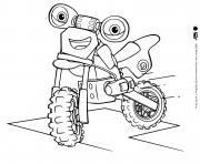 Velo Loop Hoopla Blue Dirt Bike avec des yeux verts dessin à colorier