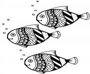 poisson Chimeriformes de l Amerique du nord dessin à colorier