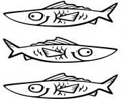 poisson Osteoglossiformes avec langues osseuses en Amerique du Nord dessin à colorier