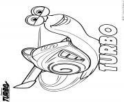 turbo escargot rapide de dreamworks dessin à colorier