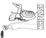turbo whiplash dessin à colorier