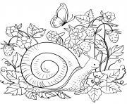 escargot dansl la nature par Lesya Adamchuk dessin à colorier